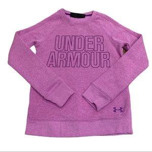 Girls purple under armor sweatshirt